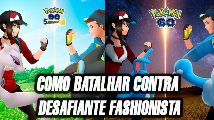 Como BATALHAR Contra 1 Desafiante Fashionista   Evento Fashion Week do Pokemon GO