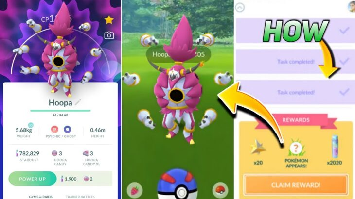 Hoopa unbound form in pokemon go | when & how we get hoopa unbound form  in Pokemon Go.